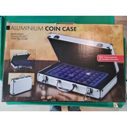 Møntkuffert i aluminium med...